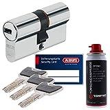 ABUS Sicherheitsschloss Schließzylinder Profilzylinder XP20 XP20S mit Sicherungskarte 40/40 und ToniTec Pflegespray