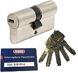 ABUS EC660 Profil-Doppelzylinder Länge (a/b) 35/35mm (c=70mm) mit 5 Schlüssel, mit Sicherungskarte
