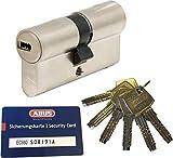 ABUS EC660 Profil-Doppelzylinder Länge (a/b) 50/50mm (c=100mm) mit 6 Schlüssel, mit Sicherungskarte
