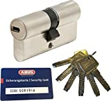 ABUS EC660 Profil-Doppelzylinder Länge (a/b) 30/30mm (c=60mm) mit 6 Schlüssel, mit Sicherungskarte