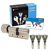 KESO 4000S Omega 41.419 Knaufzylinder 30/30 inkl. 3 Trapezschlüssel + Sicherungskarte