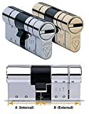 AVOCET ABS Hochsicherheits-eurozylinderschloss Euro Zylinder–Anti-Snap-Lock–TS0073Star (35(INT) x35(EXT), chrom)
