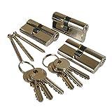 ISEO Schliesszylinder Set Gera 5900 3Stk. gleichschließend 6 Schlüssel
