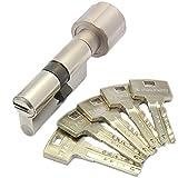 ABUS Bravus.2500 MX Magnet Knaufzylinder 30/35K inkl. 5 Schlüssel - Wendeschlüssel-Sicherheitszylinder - Sicherungskarte - Modulbauweise - Patentschutz bis 2037 (K=Knaufseite)
