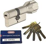 ABUS EC660 ECK660 Profil-Knaufzylinder Länge (a/b) Z28/K34mm (c=62mm) mit 6 Schlüssel, mit Sicherungskarte