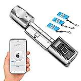 WE.LOCK SECBR Fingerabdruc Elektronischer Tür-Schließzylnder,biometrischer Fingerabdruck und Fernbedienung, Bluetooth Arbeiten APP