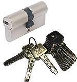 ABUS EC550 Profil-Doppelzylinder Länge (a/b) 30/30mm (c=60mm) mit 10 Schlüssel