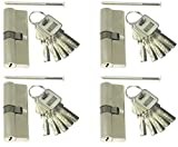 4 Profilzylinder 70 mm 35/35 Türschloss Zylinder 20 Schlüssel gleichschließend