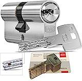 DOM iX Twido 333iX7T Doppelzylinder mit 5 Schlüssel, Länge (a/b) 30/30mm (c= 60mm), mit Sicherungskarte, mit Not- u. Gefahrenfunktion (30/30mm)