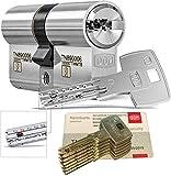 DOM iX Twido 333iX7TWMTB Modular-Doppelzylinder mit 6 Schlüssel, Länge (a/b) 40/40mm (c= 80mm), mit Sicherungskarte, mit Not- u. Gefahrenfunktion und erhöhtem Bohrschutz