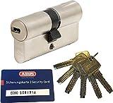 ABUS EC660 Profil-Doppelzylinder Länge (a/b) 35/40mm (c=75mm) mit 6 Schlüssel, mit Sicherungskarte