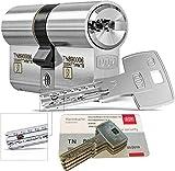 DOM iX Twido 333iX7TWMTB Modular-Doppelzylinder mit 3 Schlüssel, Länge (a/b) 45/50mm (c= 95mm), mit Sicherungskarte, mit Not- u. Gefahrenfunktion und erhöhtem Bohrschutz