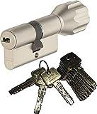 ABUS EC550 Profil-Knaufzylinder Länge Z40/K40mm mit 10 Schlüssel